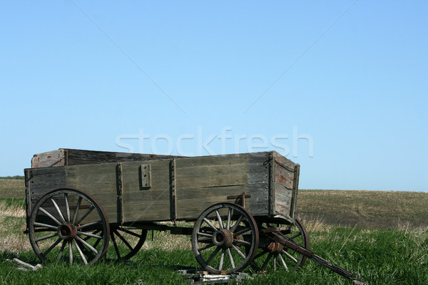 Abandoned Wooden Wagon Stock photo © rhamm