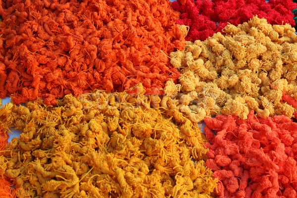 Skeins of Thread at the Otavalo Market Stock photo © rhamm