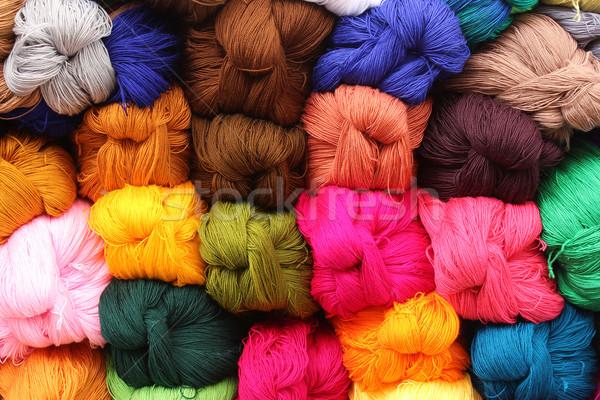 Colorful Yarn at the Market Stock photo © rhamm
