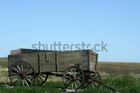 Abandoned Grain Wagon in a field Stock photo © rhamm