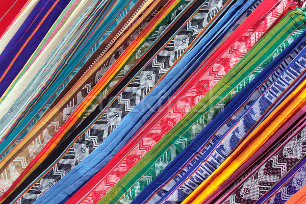 Padrões feito à mão pano variedade cores Foto stock © rhamm