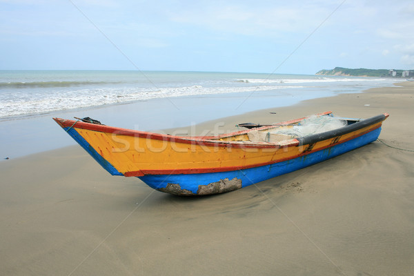 Arco azul amarelo praia Foto stock © rhamm