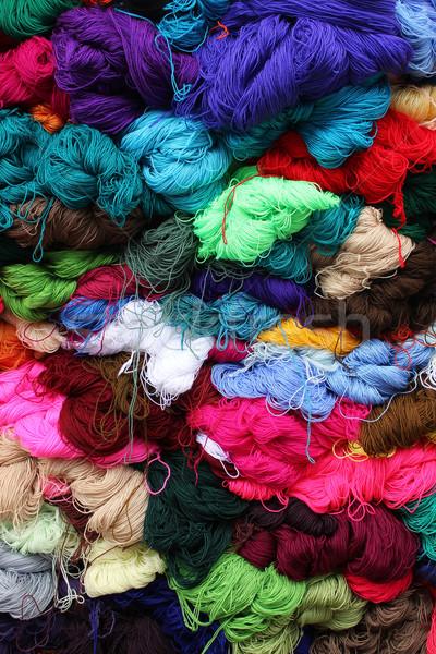 Hilados mercado colorido venta Foto stock © rhamm