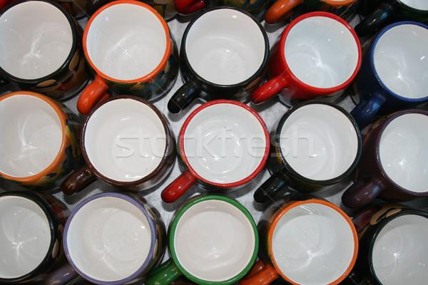 Copo feito à mão variedade cores venda Foto stock © rhamm