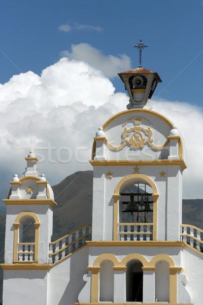 Iglesia nubes de tormenta católico ciudad cuadrados Ecuador Foto stock © rhamm