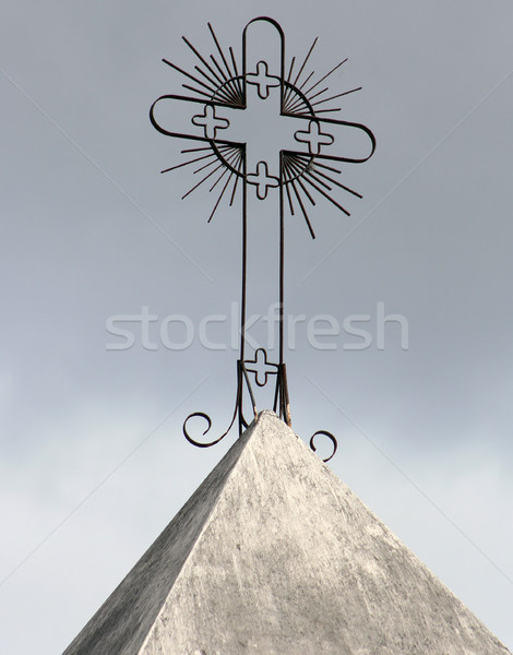 Cross on a Catholic Church Stock photo © rhamm
