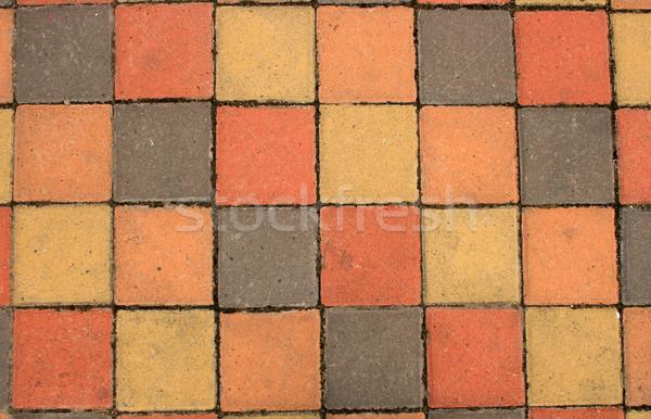 Colorido calçada blocos textura abstrato urbano Foto stock © rhamm