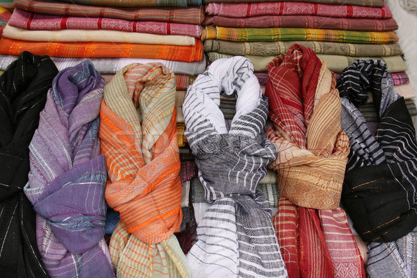 Patterned Scarves at the Market Stock photo © rhamm