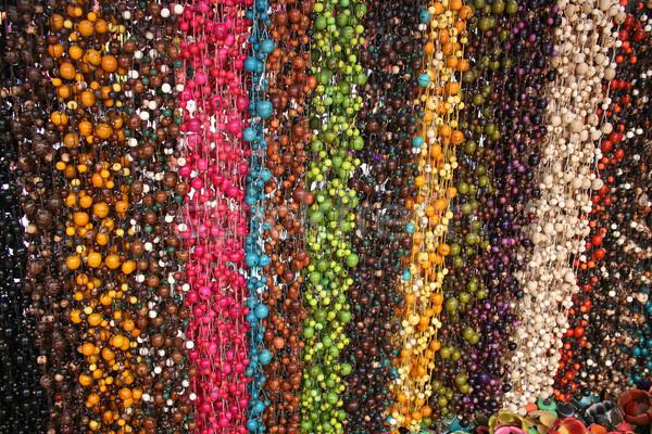 Cuentas mercado colorido tuerca vendido aire libre Foto stock © rhamm