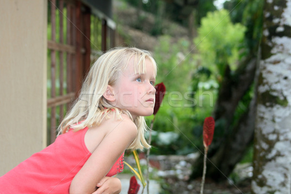 Jovem olhando jovem bastante loiro menina Foto stock © rhamm