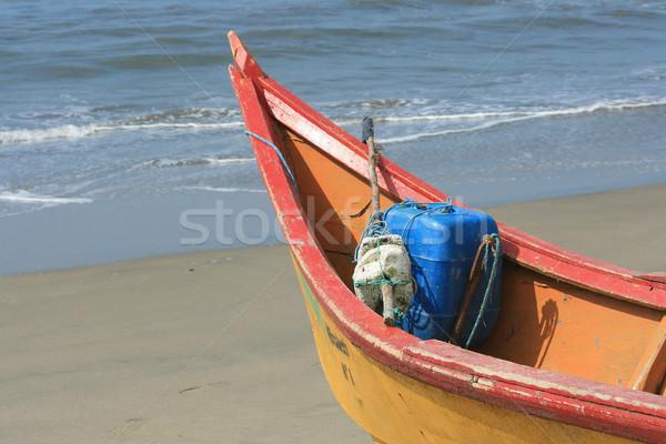Arco rojo amarillo playa Foto stock © rhamm
