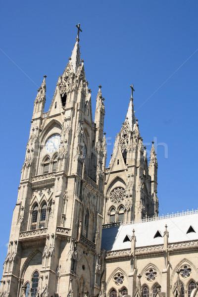 Clock Towers of the Basilica Stock photo © rhamm