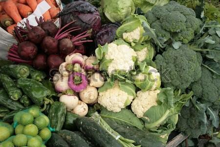 ストックフォト: 胡瓜 · レタス · カリフラワー · 屋外 · 食品