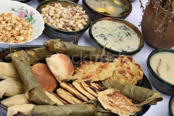 Ecuadorian Breads and Sauces Stock photo © rhamm