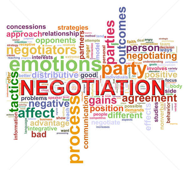 Word tags of negotiation Stock photo © ribah