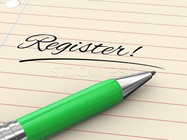 3d pen on paper - register Stock photo © ribah