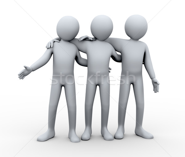 3d friendly group of person Stock photo © ribah