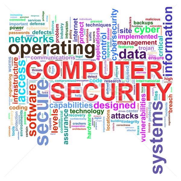 Computador segurança palavra ilustração Foto stock © ribah