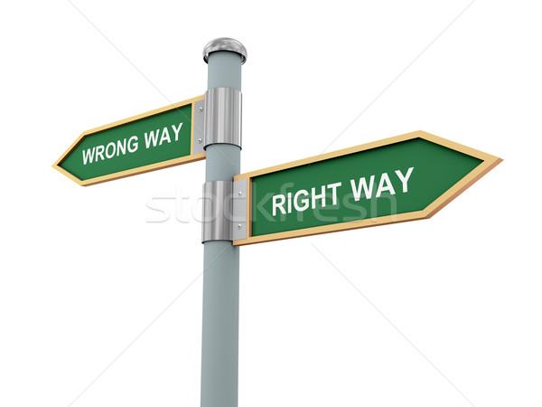 Right way and wrong way Stock photo © ribah