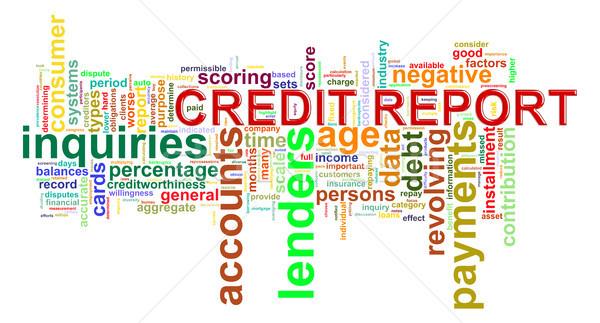 Credit report word tags Stock photo © ribah