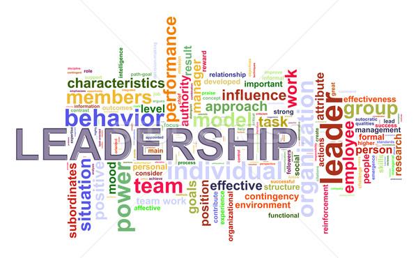 Woord leiderschap illustratie internet Stockfoto © ribah