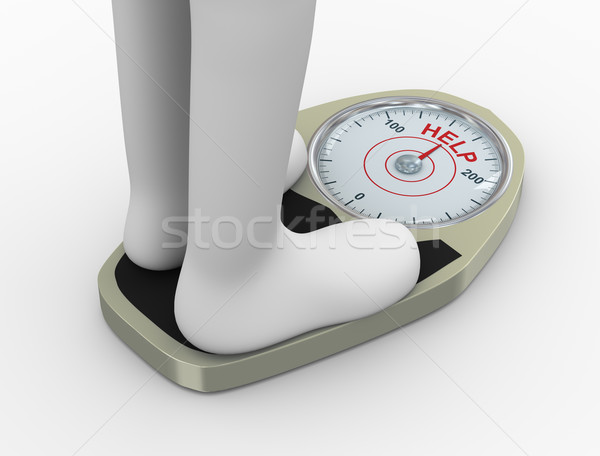 3d weight  scale with help word Stock photo © ribah