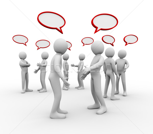 3d people empty speech bubble Stock photo © ribah