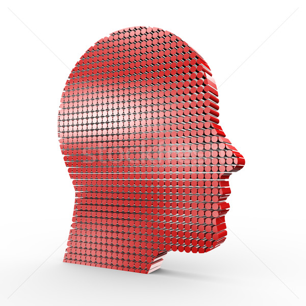 3D humanismo cara ilustração 3d tecnologia sucesso Foto stock © ribah