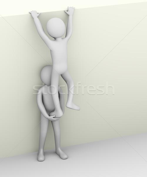 3d man helping his partner. Stock photo © ribah