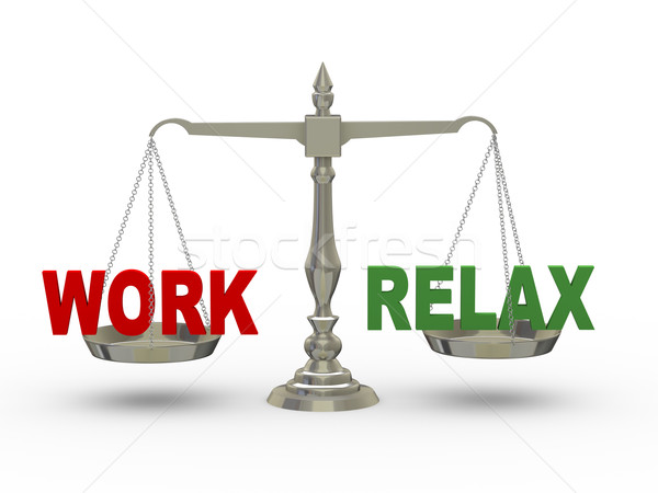 3d work and and relax on scale Stock photo © ribah