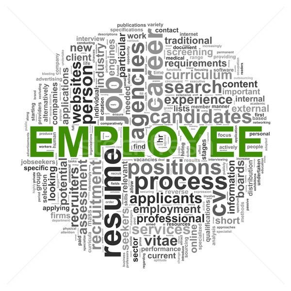 Circular wordcloud design employee word  Stock photo © ribah