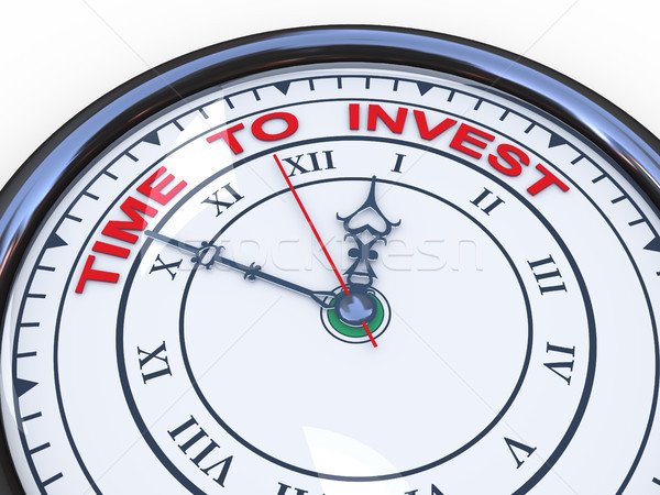 3d clock time to invest Stock photo © ribah
