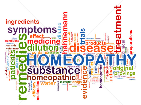 Word tags of homeopathy Stock photo © ribah