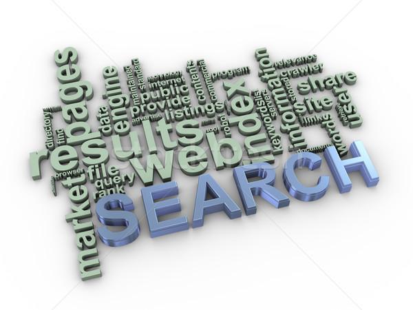 3D keresés szó címkék 3d illusztráció szófelhő Stock fotó © ribah