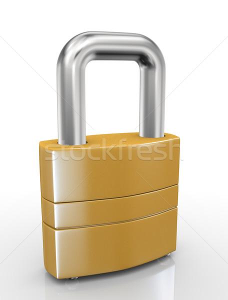 3d padlock Stock photo © ribah