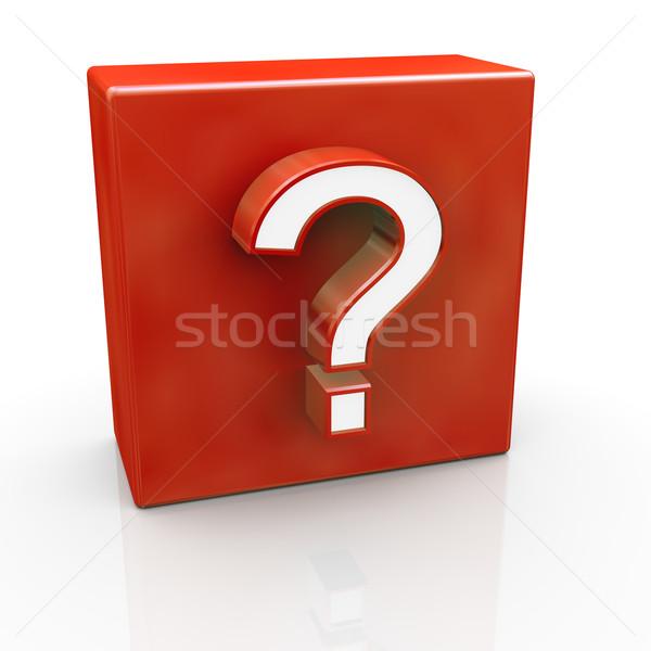 Question mark symbol Stock photo © ribah