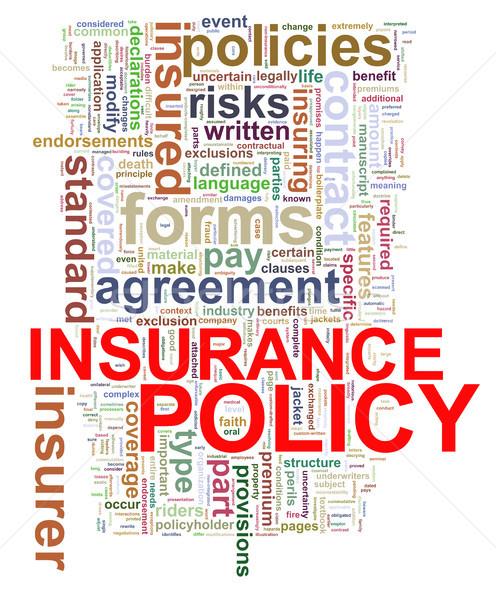 Szó címkék biztosítás irányvonal illusztráció szófelhő Stock fotó © ribah