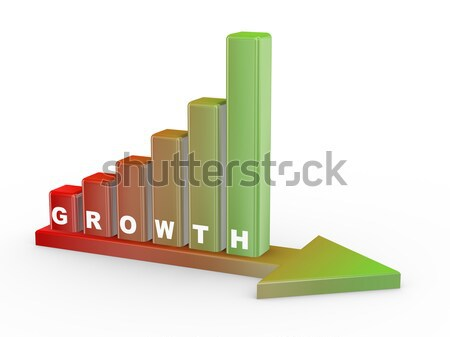 3d growth concept Stock photo © ribah