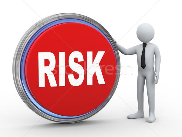 3D üzletember gomb 3d illusztráció férfi kockázat Stock fotó © ribah