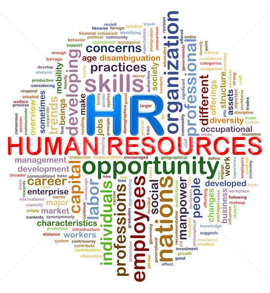 Circular design hr Human resources word tags wordcloud Stock photo © ribah