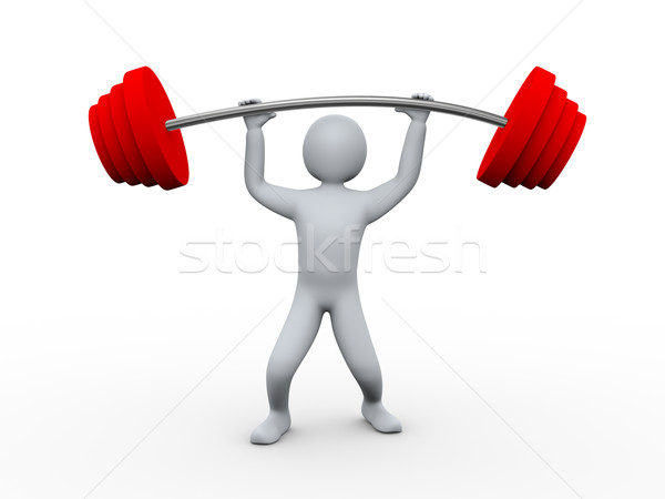 3d person lifting heavy weight. Stock photo © ribah
