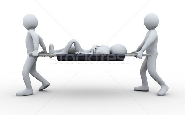 3d people taking patient Stock photo © ribah