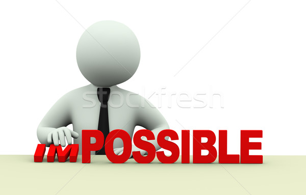 3d business impossible possible words Stock photo © ribah