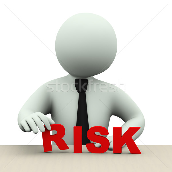 3d business man with word risk Stock photo © ribah