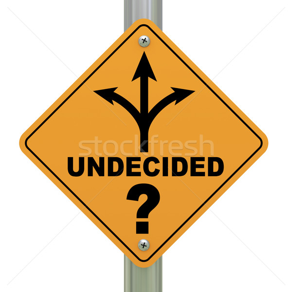 Undecided road sign Stock photo © ribah