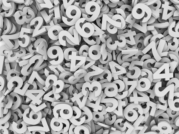 3d heap of numeric numbers Stock photo © ribah