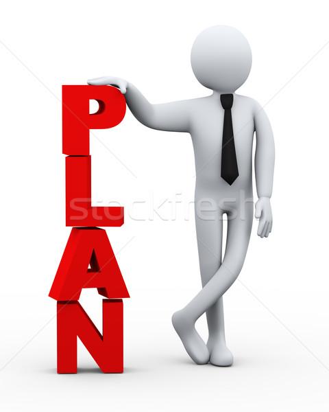 3d businessman plan word presentation Stock photo © ribah
