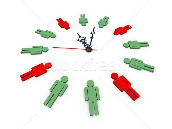3d human shapes clock Stock photo © ribah