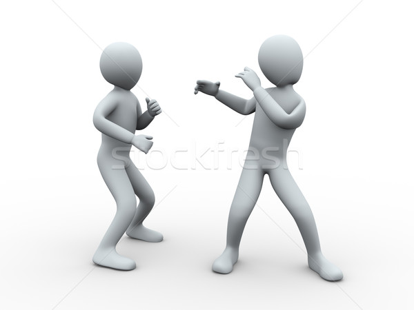 3d people fight Stock photo © ribah