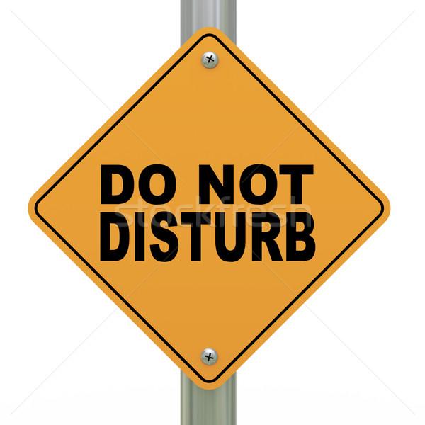 3d road sign do not disturb Stock photo © ribah